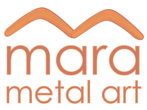 Mara metal art, aboriginal metal garden art